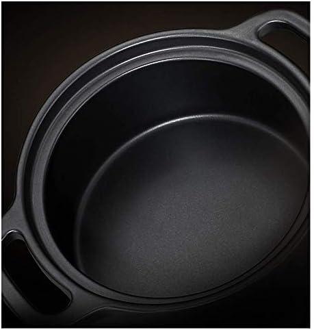 Yxxc Tapis de Danse, Casserole en Fonte Pot en Argile Pot de Riz cuiseurCéramique Pot résistant aux Hautes températures 4.2L Binaural santé Pot Tapis de Danse