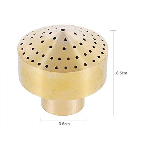 Garden Sprinklers, Pond Spray Nozzle 1/4''1/2''3/4''1''3/2''2'' Brass Column Water Fountain Nozzle Garden Sprinklers Irrigation Fountain Nozzle (D)
