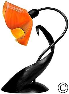 product image for Jezebel Radiance Lazy Daisy Lamp. Hardware: Black. Glass: Tangerine, Lily Style