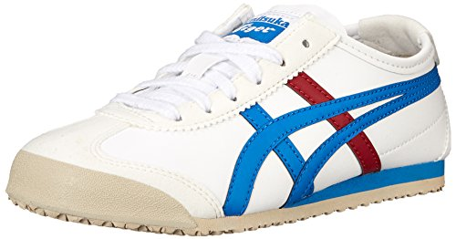 ASICS Mexico 66 Baja PS Running Shoe (Toddler/Little Kid), White/Mid Blue, 12 M US Little Kid