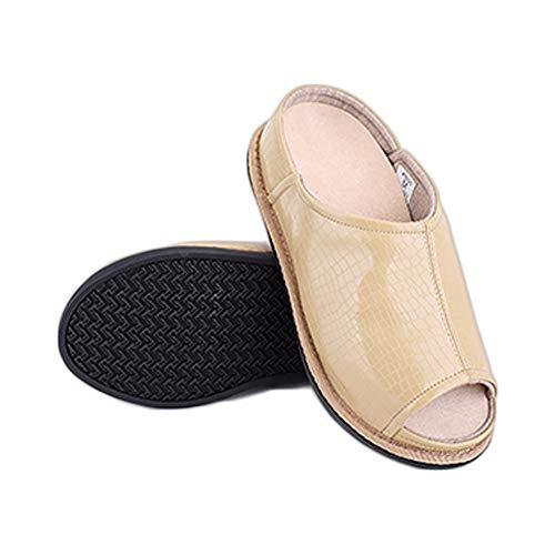 Edema Adjustable Extra Foam Diabetic Memory Women's Slippers Beige Extra Wide Arthritis Shoes Slippers an0xawqSZ8