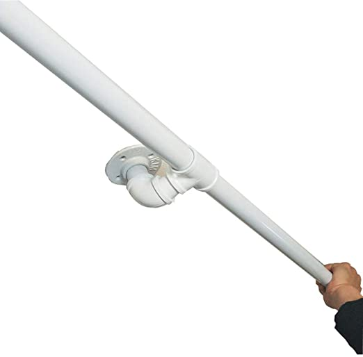 Blanco Pasamanos For Escaleras, Soporte Pared Negro Industrial Hierro Loft De Tuberías Barandilla Rail Kit Completo 30cm-600cm, Corredor De Apoyo De Rod (Size : 30cm): Amazon.es: Hogar