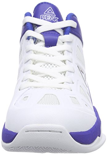 Peak Sport Europe Peak Sport Europe Basketballschuh Victor Y - Zapatillas de baloncesto Unisex Niños Weiß (White/Royal)