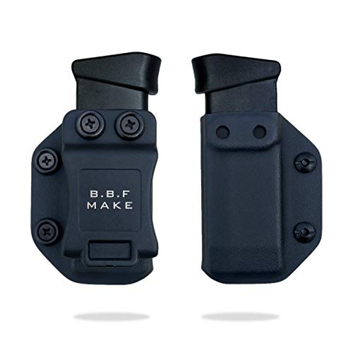B.B.F Make Single IWB/OWB Magazine Holster | Mag Carrier | Ambidextrous | Retired Navy Owned Company | Available Model: M&P Shield 9/40, Glock 4/90/357, Sig P365, Glock 43, 1911 (Black - Glock 43)