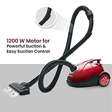Eureka Forbes Quick Clean DX 1200-Watt Vacuum Cleaner for Home with Free Reusable dust Bag (Red) 10
