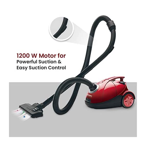 Eureka Forbes Quick Clean DX 1200-Watt Vacuum Cleaner for Home with Free Reusable dust Bag (Red) 3