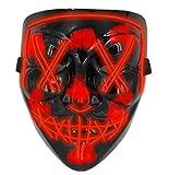 Halloween Masks for AdultsLed Purge Mask Light Up MaskHalloween Mask Led Mask Scary Halloween Mask for Halloween