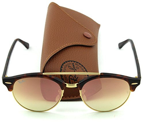 d884d25c79fcca Amazon.com  Ray-Ban RB4346 CLUBROUND DOUBLE BRIDGE Unisex Sunglasses (Black  Frame Green Lens 901, 51)  Clothing