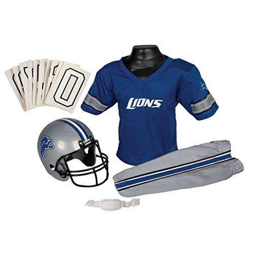 [Detroit Lions NFL Youth Uniform Set Halloween Costume] (Male Football Player Costume)