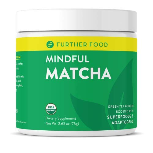 Mindful Matcha: USDA Organic Premium Matcha Green Tea Powder from Japan Boosted with Superfoods, Mushrooms, and Ashwagandha for Focus, Energy & Stress Relief | Vegan | Paleo, Keto (30 servings)