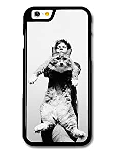 Ed Sheeran Holding Funny Cat Black & White case for iPhone 6 A10321 by supermalls