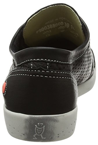 Zapatillas De Deporte De Cuero Lisas Negras Ica Softinos Para Mujer - 41