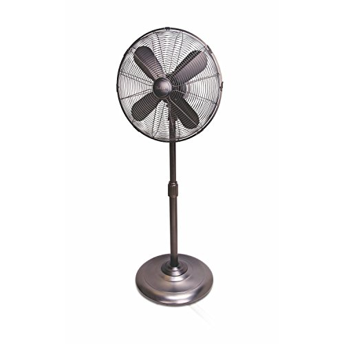 Holmes Heritage Collection Stand Fan, 16-inch, Brushed (Heritage Bronze Finish)