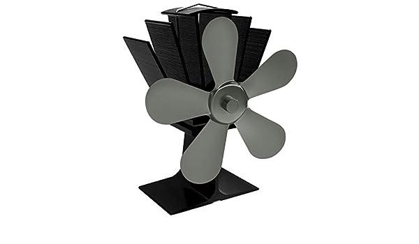 TOOGOO Ventilador De Estufa Accionado por Calor De 5 Cuchillas ...