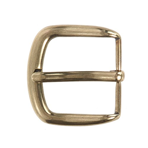 "1 3/8"" (35 mm) Nickel Free Single Prong Horseshoe Belt Buckle Color: Antique Brass from beltiscool"