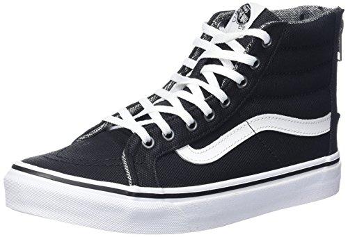 Vans Unisex Sk8-hi Slim Donna Scarpa Da Skate Nero / Bianco