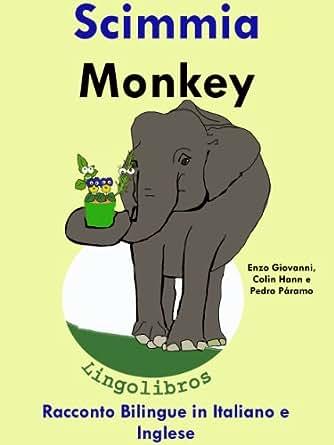 Racconto Bilingue in Italiano e Inglese: Scimmia - Monkey (Serie