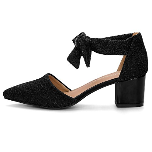 Sandals Women's Heels Allegra Block Pumps Black Lace K Glitter up nqCZwRwFx5