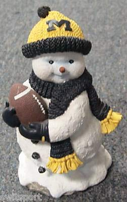 Michigan Wolverines Snowman First Edition Henry