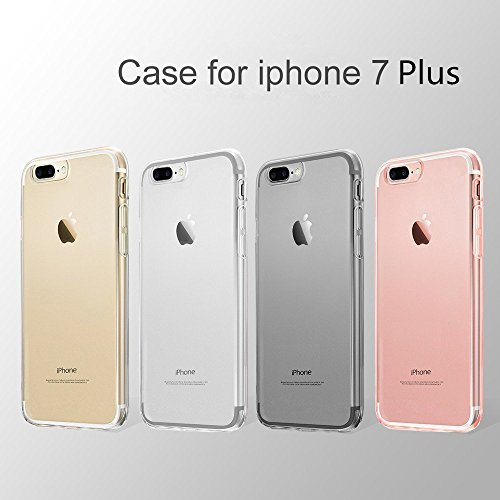 "iPhone 7 Plus iPhone 8 Plus Hülle, Vkaiy iPhone 7 Plus iPhone 8 Plus Schutzhülle Transparent Handyhülle Crystal Clear Silikon Durchsichtig TPU Bumper Case für iPhone 7 8 Plus (5,5"")"