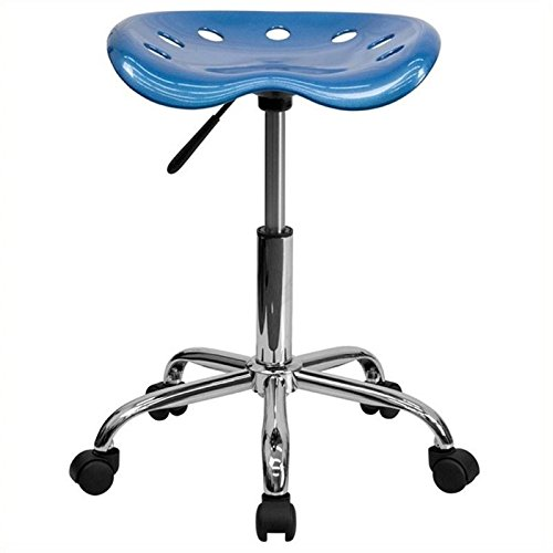 Scranton and Co Adjustable Bar Stool in Bright Blue