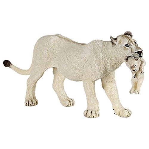 Papo - 50203 - Figurine - Animaux  - Lionne Blanche avec Petit