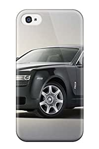 Durable Defender Case For Iphone 4/4s Tpu Cover(rolls Royce Ghost 5)