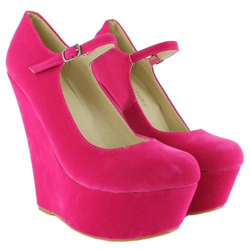 Sandalias de fucsia de para vestir rosa sintético mujer Footwear Sensation 7v5wqxg