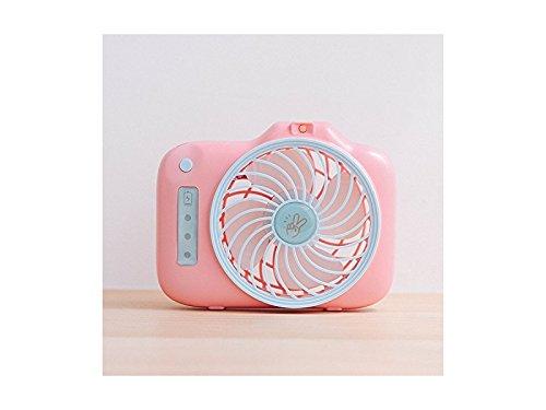 Junson Portable Smallfan Handheld Portable USB Fan with Mini Fan Camera Fan Student Fan (Pink) for Summer