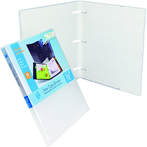 UniKeep 3 Ring Binder - Clear - Case View Binder - 0.50 Inch Spine - With Clear Outer Overlay - Pack of 3 Binders - Empty 3 Pack Clear Overlay