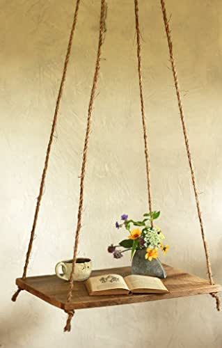 Hanging barn wood side table