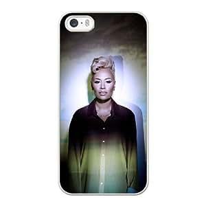Emeli Sande E4P0CF2Y Caso funda iPhone 5 5s Caso funda del teléfono celular blanco