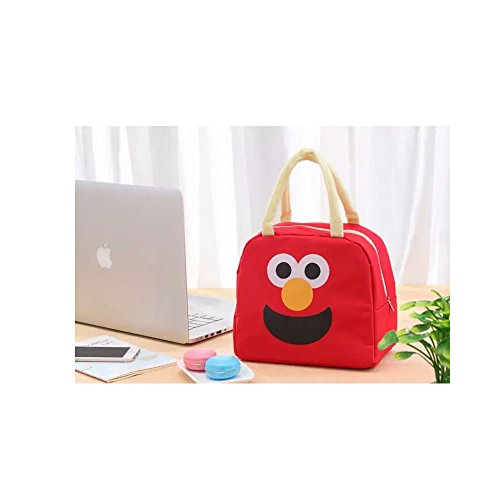 Prettyboy Cute Reusable Cotton Lunch Bag Insulated Lunch Tote Soft Bento Cooler Bag (Red)