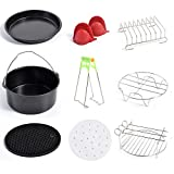 Air Fryer Accessories Set of 10PCS Compatible Gowise Phillips Cozyna 7Inch Air Fryer, Fit all 3.7QT 5.3QT 5.8QT Deep Fryer Accessories by QUIENKITCH