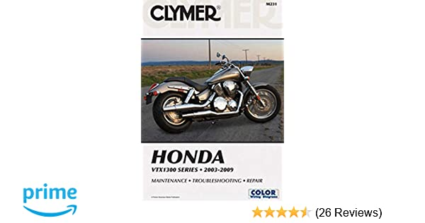 Clymer Repair Manual for Honda VTX1300 C/R/S/T 03-09 on vtx 1300 engine, vtx 1300 brake light wiring, vtx 1300 ignition coil, vtx 1300 wiring harness, vtx 1300 service manual, vtx 1300 final drive, vtx 1800 wiring diagram, vtx 1800c wiring diagram, honda cb 700 wire diagram, vtx 1300 brake pads, vtx 1300 schematic, vtx 1300 brake system, 06 honda aero electrical diagram, virago 1100 diagram, kawasaki 1300 wiring diagram, honda vtx 1800 engine diagram, vtx 1300 turn signals,