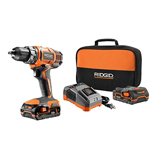 Ridgid 18 Volt Hyper Lithium-Ion Drill Driver Kit R860052 Bulk Packaged