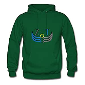 Monahun Zoneoftech Official Logo (png Square) Print Hoodies X-large For Women Green