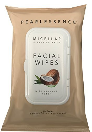 Micellar Cleansing Facial Makeup Remover Wipes w/ Coconut Wa