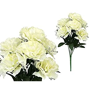 7-stem Carnations with Baby Breath, Artificial Flower 30