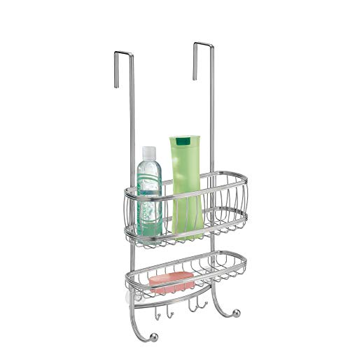 Learn More About iDesign York Bathroom Over the Door Shower Caddy with Storage Baskets Shelves and H...