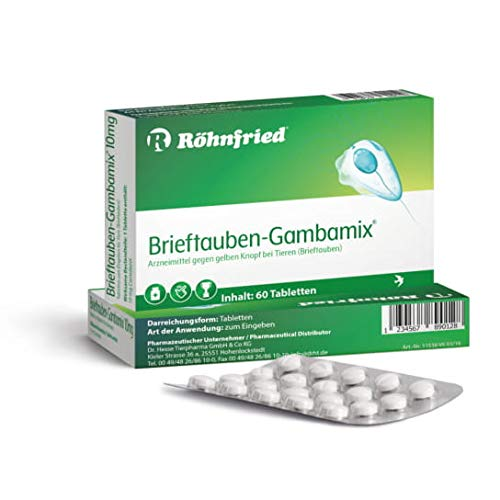 Röhnfried Gambamix – 10 mg Carnidazol – 60 Tabletten – gegen Trichomonanden – Parasiten-Medikament