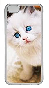 Shell Case for iphone 5C with Funny Cat DIY Fashion PC Transparent Hard Skin Case for iphone 5C