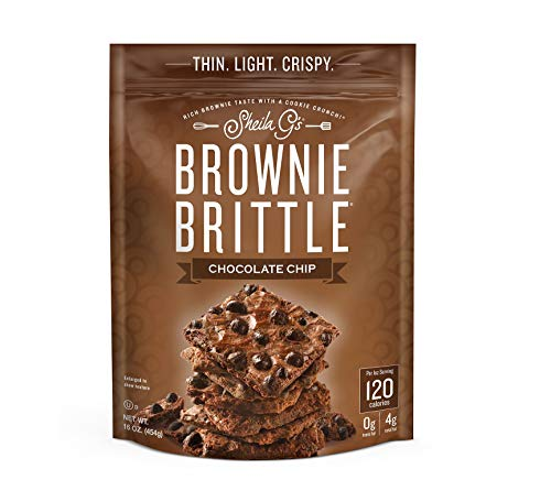 Brownie Brittle, Chocolate Chip, 16 Oz Bag, The Unbelievably Rich and Delicious Chocolate Brownie Snack with A Cookie Crunch (Packaging May Vary) (Peanut With Chocolate Brittle)