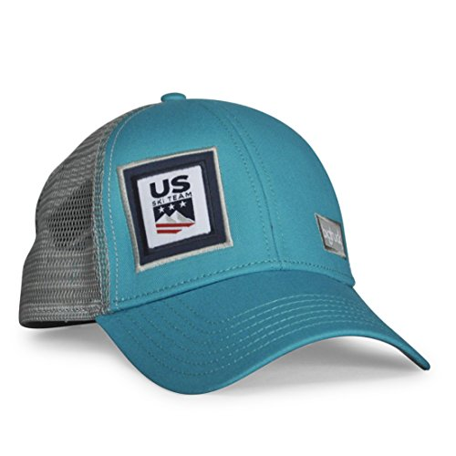 bigtruck U.S. Ski Team Classic Trucker Hat, Jade Grey, Adult