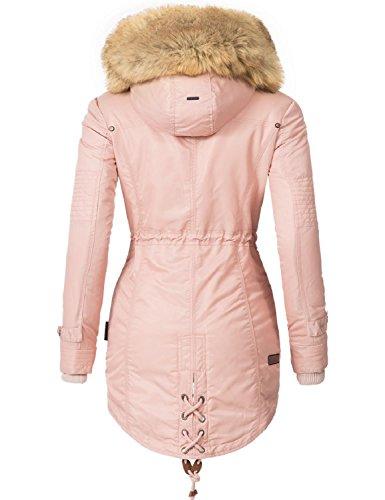 Navahoo Damen Mantel Wintermantel Winterparka La Viva (vegan Hergestellt) 7  Farben + Camouflage XS ...