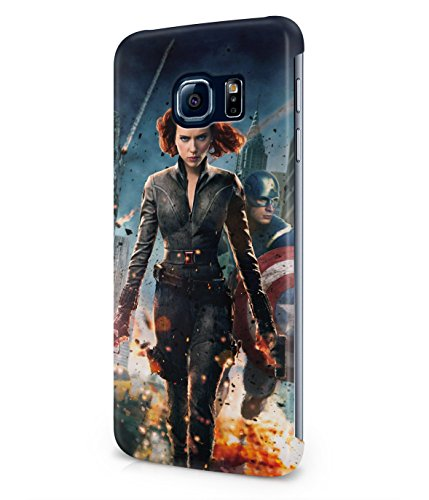 Black Widow Captain America The Avengers Plastic Snap-On Case Cover Shell For Samsung Galaxy S6 EDGE