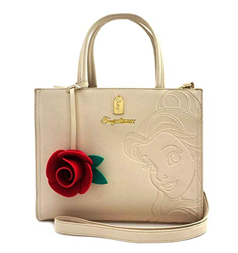Loungefly Disney Beauty and Beast Belle Structured Handbag (Beige)