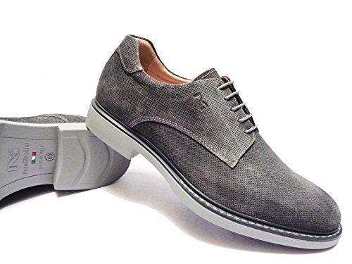 Nero Giardini 182 Chaussures Casual Pour Homme En Daim Col. Jeans, Num. 41