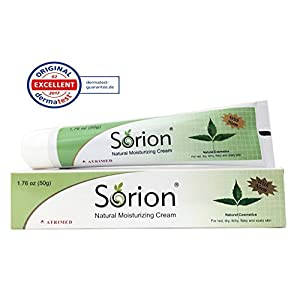Sorion Natural Moisturizing Cream - Herbal Skincare with Coconut Oil, Neem and Turmeric For Red, Dry, Itchy, Flaky and Scaly Skin