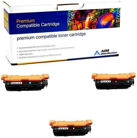 AIM Compatible Replacement for HP Color Laserjet Enterprise M651 Toner Cartridge Combo Pack CF32CMY NO. 654A C//M//Y - Generic